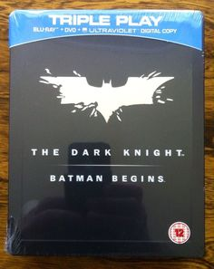 The dark #knight / #batman begins steelbook tin #triple play blu ray dvd new seal,  View more on the LINK: http://www.zeppy.io/product/gb/2/201770762116/