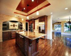 100 Küchen Designs – Möbel, Arbeitsplatten und zahlreiche Einrichtungslösungen - Küchen Designs klassisch einrichtung massiv möbel pendelleuchten