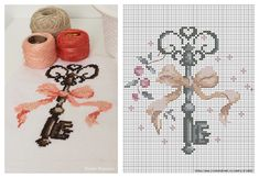 This Pin was discovered by Yas Christmas Embroidery Patterns, Diy Embroidery, Cross Stitch Embroidery, Cross Stitch Patterns, Tiny Cross Stitch, Palestinian Embroidery, Freebies, Crochet Cross, Cross Stitching