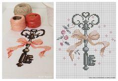 Dilek anahtarı yapılışı, çarpı işi etamin kaneviçe dilek anahtarı şablonu, Dean key cross stitch pattern ,modeli, çarpı işi modelleri,