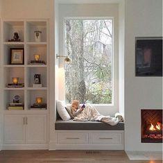 Trendy Window Nook Design Ideas To Get Cozy Space In Your House - Home Design Ideas Window Benches, Cozy Nook, My New Room, Home Decor Bedroom, Master Bedroom, Bedroom Small, Bay Window Bedroom, Cozy Bedroom, Trendy Bedroom