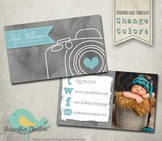 Photography Business Card Templates Business by SugarfliesDesigns, $8.00