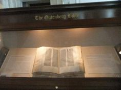 The Gutenberg Bible located in The Library of Congress