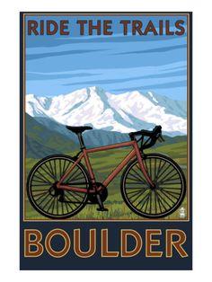 Boulder, CO...2009  My ancestors built those trails.