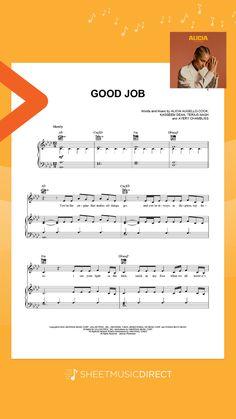 Good Job By Alicia Keys Piano Vocal Guitar Right Hand Melody