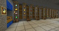 Chest Room Design Minecraft I always put chests one above another connected by hoppers so that i can always put items in the top chest and take items out of the bottom chest.