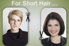 Short crop and bob hairstyle for women with big nose