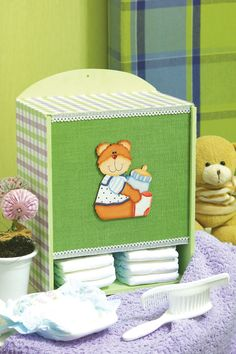 Porta-fraldas com patchwork / DIY, Craft, Upcycle