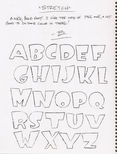 I like this font Hand Lettering Alphabet, Doodle Lettering, Graffiti Lettering, Calligraphy Letters, Typography Letters, Lettering Guide, Creative Lettering, Lettering Styles, Lettering Design