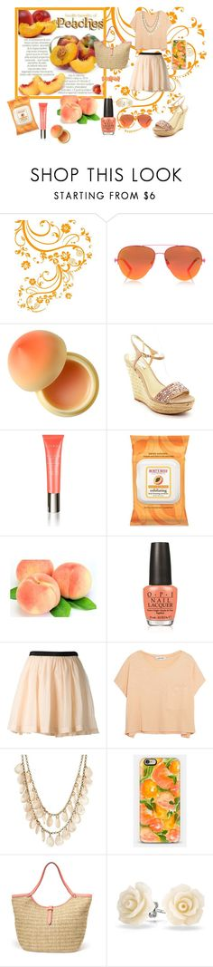 Peaches by pathbunny on Polyvore featuring Elizabeth and James, Band of Outsiders, INC International Concepts, Stella & Dot, Charlotte Russe, Bling Jewelry, Liz Claiborne, Kurt Geiger, By Terry and Burt's Bees