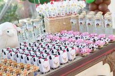 Festa infantil tema fazendinha, caixinhas de leite