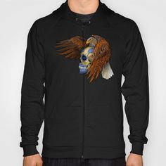 indian native Eagle sugar Skull Hoody Unisex #Hoody #unisex #tshirt #clothing #skull #skeleton #dayofthedead #diasdemuertos #jack #skellingtons #halloween #scarythenight #before #christmas #animal #bone #tattoo #hippie #hipster #aztec #maya #indian #feather #bird #butterfly #mexico #mexican #hauntedmansion #ghost #monster