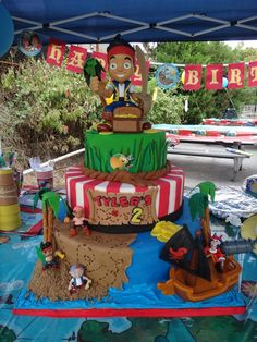 59 Best Jake & Neverland Pirates Cakes images in 2013 | Pirate Party ...