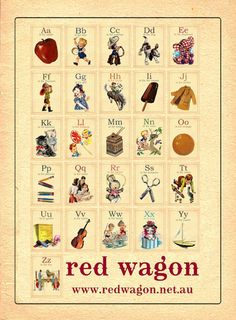 Vintage style alphabet cards from Red Wagon Vintage Flash, Vintage Boys, Vintage School, Vintage Children, Retro Vintage, Abc Alphabet, Alphabet Cards, Alphabet And Numbers, Abc Cards