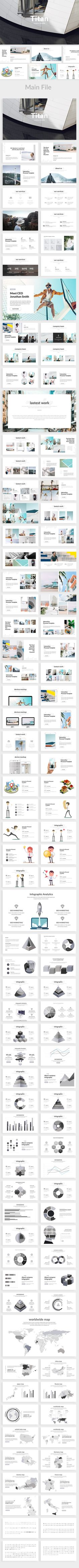 Titan Creative Powerpoint Template — Powerpoint PPT #proposal • Available here ➝ https://graphicriver.net/item/titan-creative-powerpoint-template/20734898?ref=pxcr