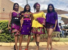 African Bridesmaid Dresses, African Wedding Attire, African Print Dresses, African Dress, African Prints, Tsonga Traditional Dresses, South African Traditional Dresses, Traditional Outfits, Traditional Wedding