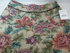 Free People Carpet Bag Floral Tapestry Skirt Textured Jacquard New Sz 6 NWT #FreePeople #Skirt
