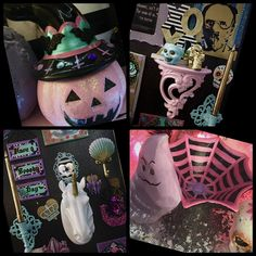 My pastel goth makeup room decor. Jaidyn perkins. Diy Pastel goth. Creepy cute crafts.