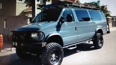 Lifted Van, Ford E250, 4x4 Van, Van Car, Camper Van Conversion Diy, Cool Vans, Expedition Vehicle, Van Camping, Custom Vans