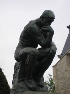 The Thinker - Auguste Rodin.  Bronze.  Musee Rodin, Paris, France.