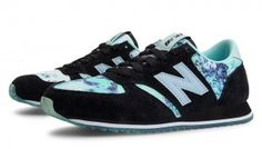 NEW BALANCE HKNB 420 Women's Running Classics Trainers Black with White Mint & White UK Prices