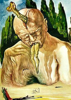 "A Logician Devil – Lucifer. Illustration for Dante's ""Divine Comedy"" - 1951"