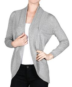 Another great find on #zulily! Heather Gray Pocket Cocoon Open Cardigan #zulilyfinds