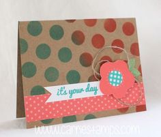 Happy Thoughts Paper Pumpkin card with a stenciled background. www.carriestamps.com #stampinup #paperpumpkin