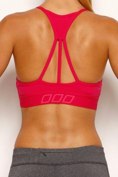 This is all I want in a sporty top! Strong in the front, beautiful in the back!