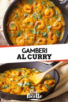 Shrimp in Curry Sauce- Prawns in Curry Sauce are a tasty second course of Thai origin that is prepared quickly, easily and with few ingredients. Asian Recipes, Healthy Recipes, Ethnic Recipes, I Love Food, Good Food, Shellfish Recipes, Curry Sauce, Great Appetizers, Oriental