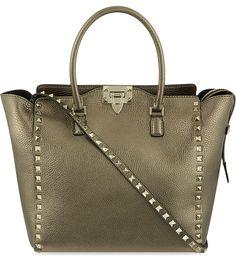 VALENTINO - Rockstud medium grained leather tote | Selfridges.com