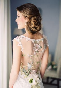 Clair Pettibone romantic floral back pattern