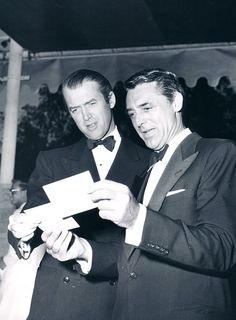 Cary Grant and James Stewart