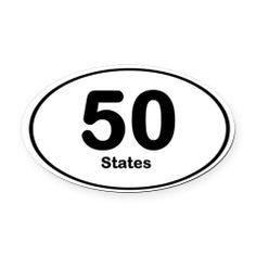 50 states magnet www.travelgoalgetter.com