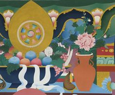 Offerings to Buddha, #thanbhochi detail by Tashi Dhargyal
