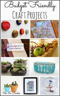 great collection of budget friendly crafts