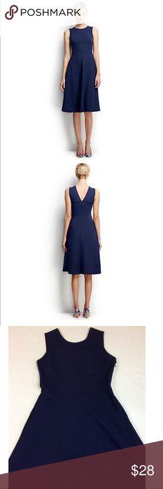 Lands' End Women's Ponte A-Line Dress Size 14 Cute Women's A-Line Ponte Dress from Lands' End. Stretchy material, side Zipper, v-neck in back. Good condition. Plus Size 14 Lands' End Dresses
