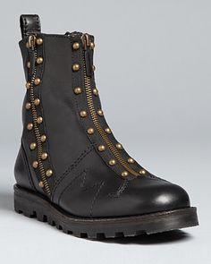 MARC BY MARC JACOBS Zip Up Studded Moto Boots - Boots - Shoes - Shoes - Bloomingdale's