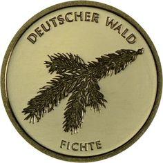 20 Euro Gold Deutscher Wald - Fichte UN