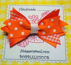 Beautiful handmade bows and hair accessories to die for !!