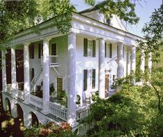 Southern Abode - 1837 Antebellum - Temple Heights in Columbus, Mississippi Southern Plantation Homes, Southern Mansions, Southern Plantations, Southern Homes, Plantation Houses, Southern Charm, Southern Gothic, Southern Style, Greek Revival Architecture