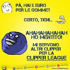 """AHAHA HO MENTITO!"" - Meme Clipper League :D  #clipper #clipperitalia #itsaclipper #clipperlife #clippersonly #bestlighters #premiumlighters #isobutane #igsmokers #clipperlighters #clippercollection #superlighter #clippers #clippermania #lightup #lighters #clipperworld #instaclipper #iloveclipper #clipperlovers #bestclipper #clipperloco"