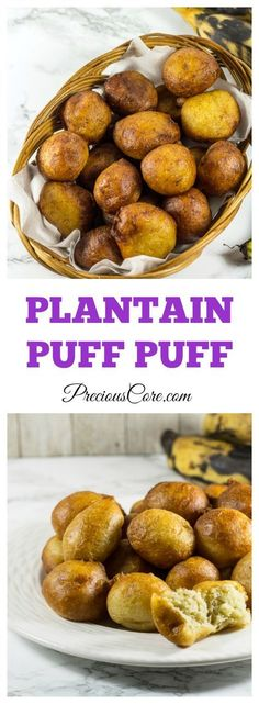 African puff puff made with plantains