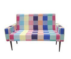 Poltrona vó rosa colorful squares - 2 lugares | Westwing - Casa & Decoração