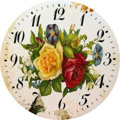 Dials from BAD Discussion on LiveInternet - Russian Service Online Diaries Clock Art, Diy Clock, Decoupage Vintage, Decoupage Paper, Clock Printable, 5 April, Christmas Snow Globes, Cabbage Roses, Bottle Cap Images