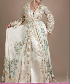 Caftan blanc 2015 pour mariage