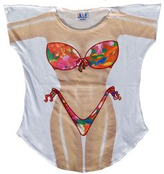bac3dfc23016b La Imprints Sexy Bikini Swimwear Cover Up Tropical T-Shirt Tee Pajamas  Beach T Shirts