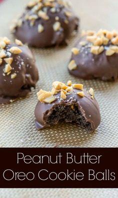 Peanut Butter Oreo Cookie Balls - i heart eating