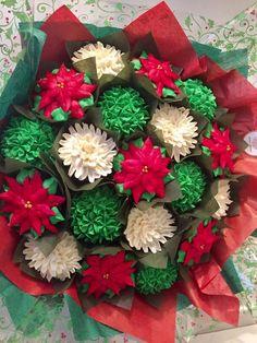 Christmas cupcake bouquet www.bakedblooms.com