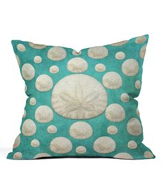 Look at this Lisa Argyropoulos Sand Dollars Fleece Throw Pillow on #zulily today!